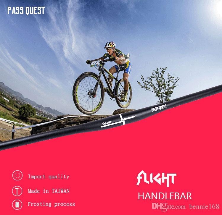 Swallow-shaped Handlebar 31.8X780MM PASS QUEST DH FR downhill Aluminum Alloy Riser Handlebar MTB Mountain Bike Handlebar