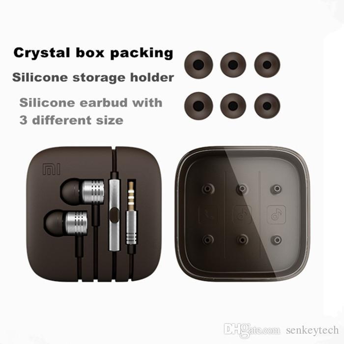 Xiaomi Kolben II Kopfhörer Universal 3,5 mm Metall Xiaomi Stereo HIFI Kopfhörer Headset mit 10 Farben in Kristall-Box für iphone sumsung redmi