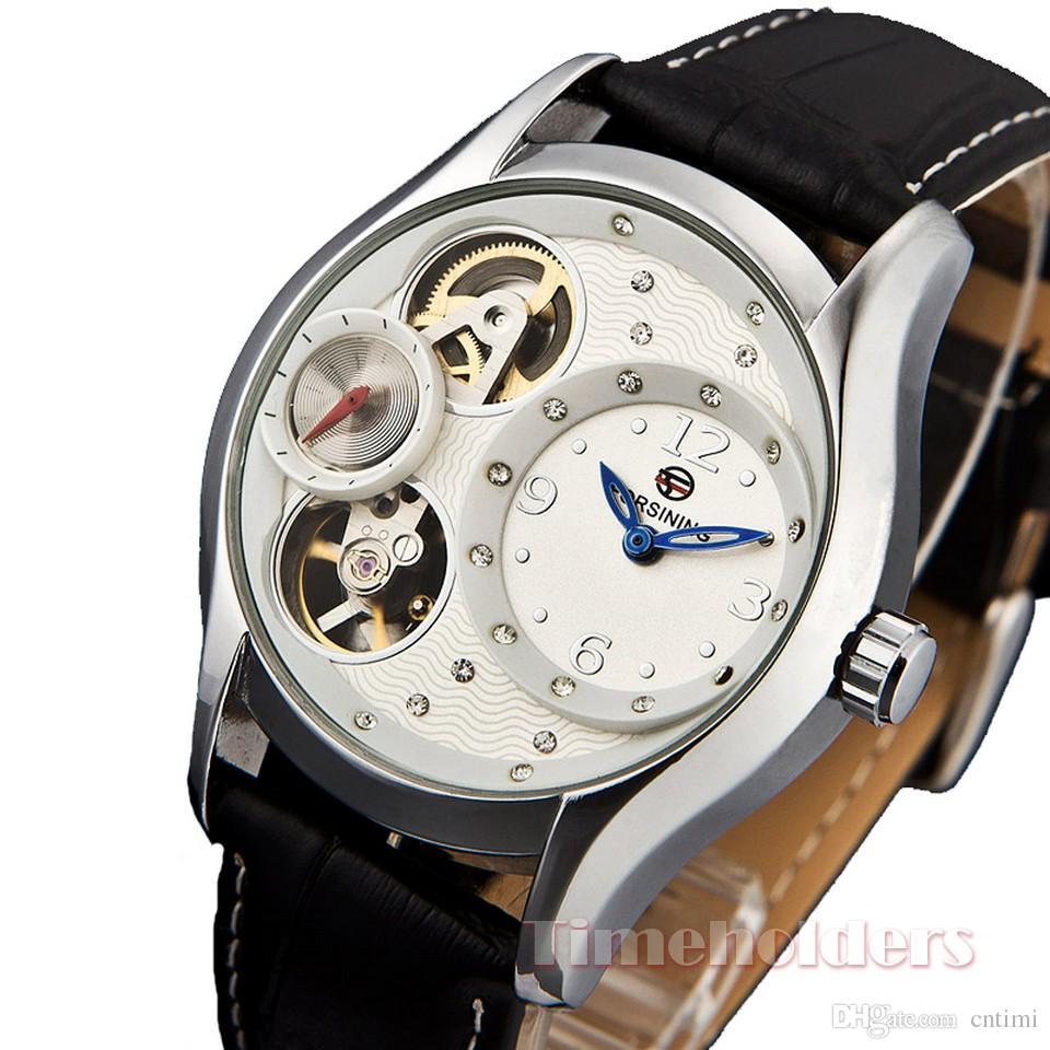 728269d95c8 Compre Relógio De Cristal Mulheres Mecânicas Automático Steampunk Esqueleto  Diamante Jóias Transparente Relógios Para As Mulheres De Cntimi