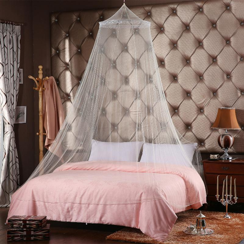 Elegant Mosquito Net For Double Bed Canopy Insect Reject Circular Curtains Repellent Tent White House High Quality
