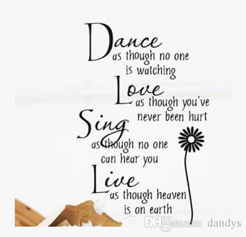 الشحن مجانا الرقص الحب الغناء الفن الفينيل الجدار ملصق الشارات نقل الشحن المجاني ساخنة جديدة ، الهندباء