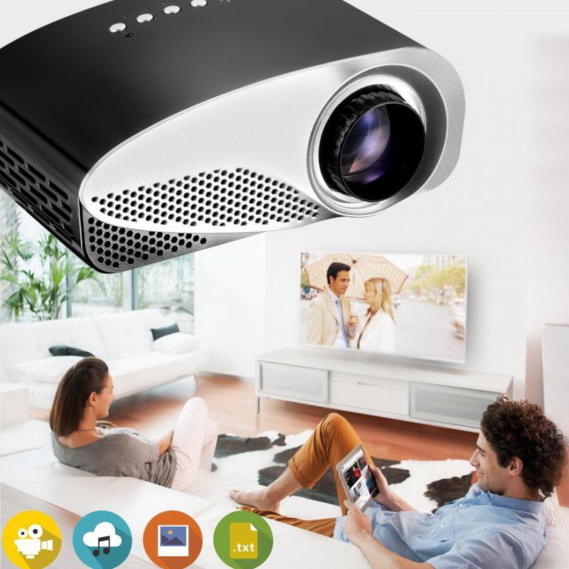 Mini tragbarer 1080Full HD Easy Mikroprojektor EMP GP8S LCD Heimkino Beamer mit doppeltem HDMI für SD USB TV AV VGA Videofilm Proyector