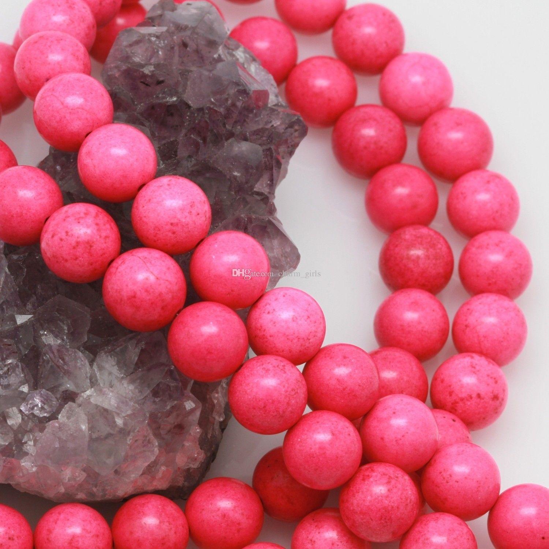 حبات الفيروز الملونة 14 لون الفيروز الخرز الخرز الفيروز الخرز ل 10 MM DIY سوار قلادة