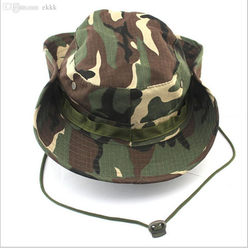 cfaeb091685 Wholesale New Camouflage Bucket Hats Camo Fisherman Hats Men With Wide Brim  Sun Fishing Bucket Hat Camping Hunting Hat Fedora Hats For Women Hat Shop  From ...