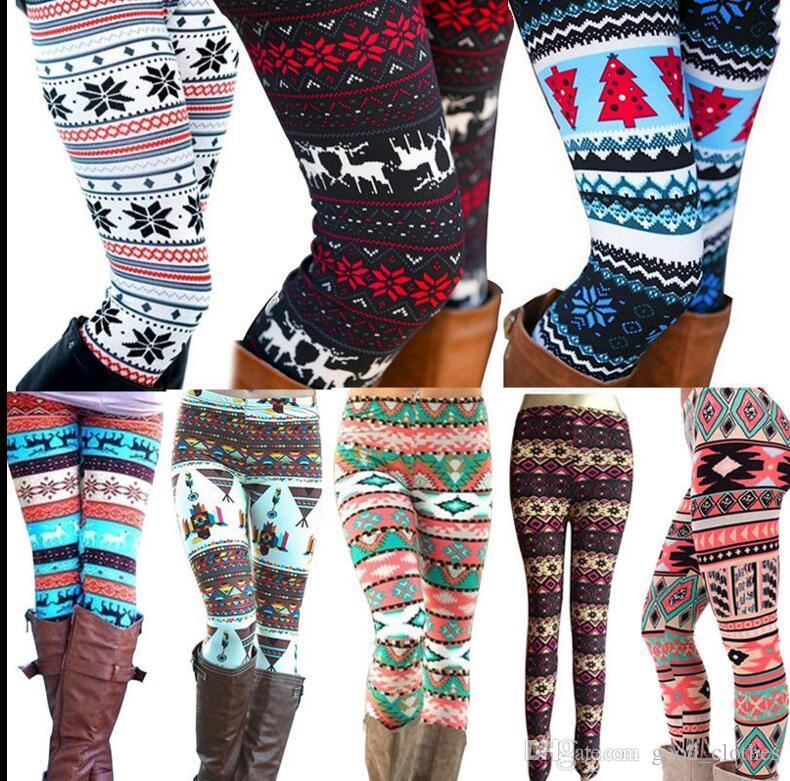 ea16365b0b8b47 2019 Women Snowflake Leggings Xmas Tight Stretch Pants Leggings Women  Stretchy T Snowflake Printed Casual Skinny Slim Legging KKA3343 From  Good_clothes, ...