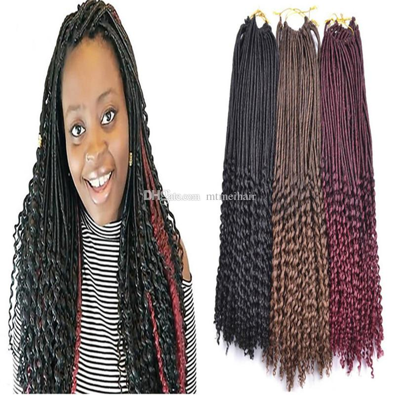 online cheap mtmei goddess faux locs curly ends crochet