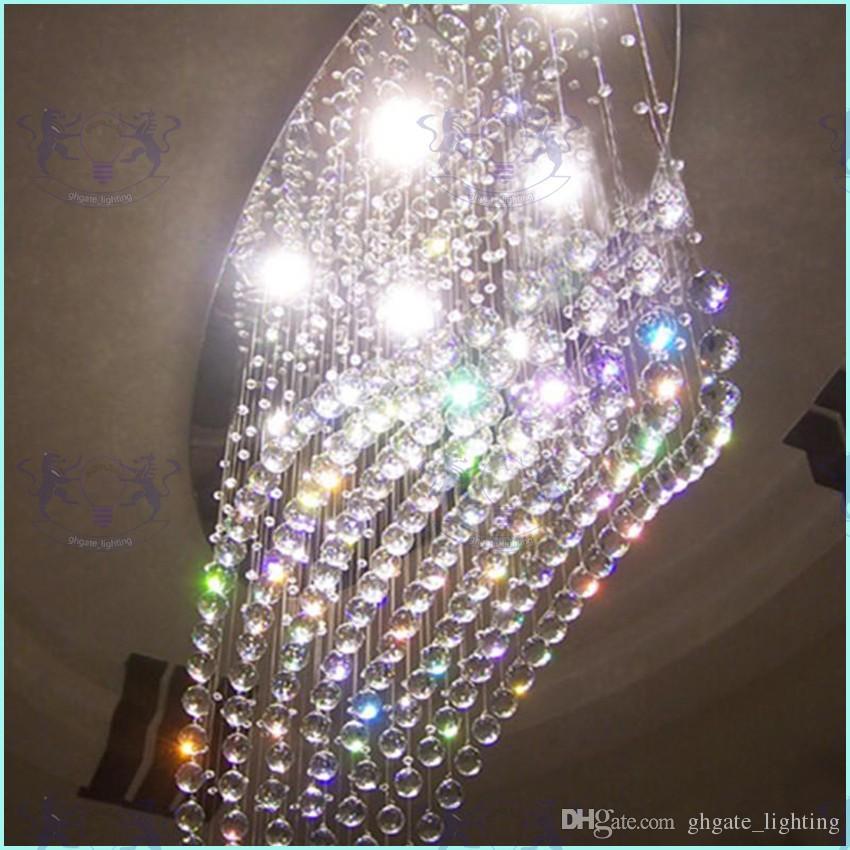 Freie ovale Vorhangwelle des Verschiffens moderne Leuchterkristalllampenwohnzimmerlampen-Hotelbeleuchtungsgröße: L750 * W250 * H650mm