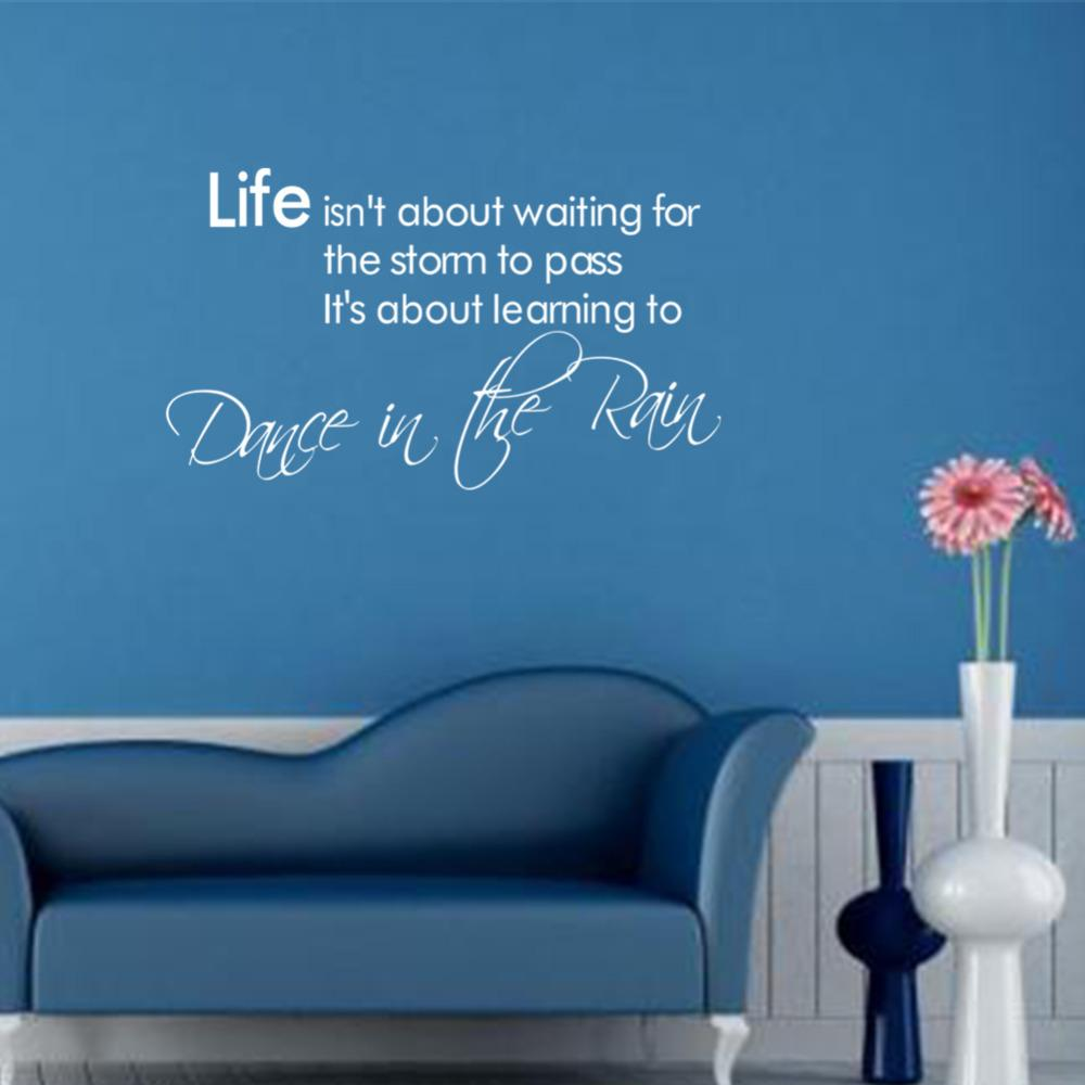 2313 Dance In The Rain Wall Tattoo Removable Wall Quote 3d House