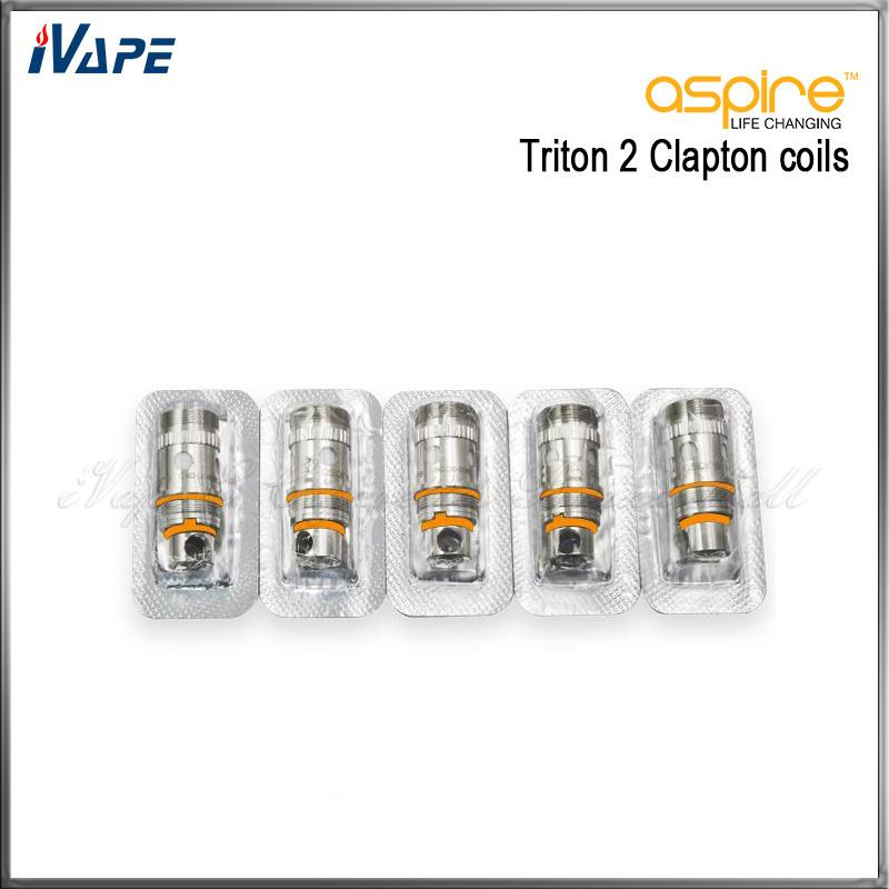 100% Original Aspire Clapton Coils Head 0.5ohm For Triton 2 Tank Atlantis Atomizer Aspire Triton 2 Atlantis Replacement Coils