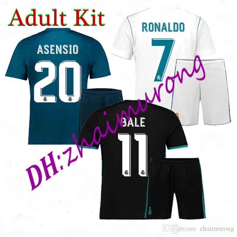 c54e64adb Discount cheap 2017 2018 Real Madrid Soccer Jersey Adult Kits 17 18 Ronaldo  Bale Football shirt Asensio MODRIC RAMOS ISCO soccer Jerseys kit