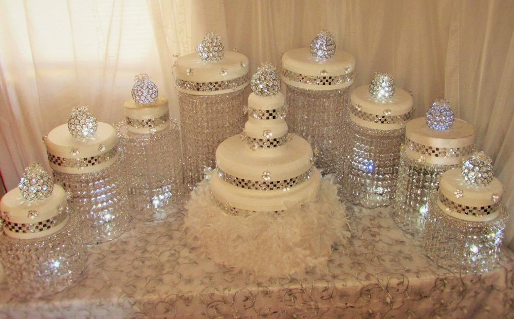 Free Shippping Amazing Wedding Cake Stand Crystal Centerpieces