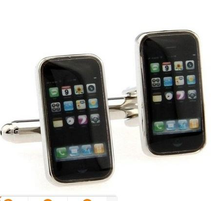 high quality Mobile Phone Model Cuff Links Men's Cufflinks for shirt Fashion Jewelry best gift W425