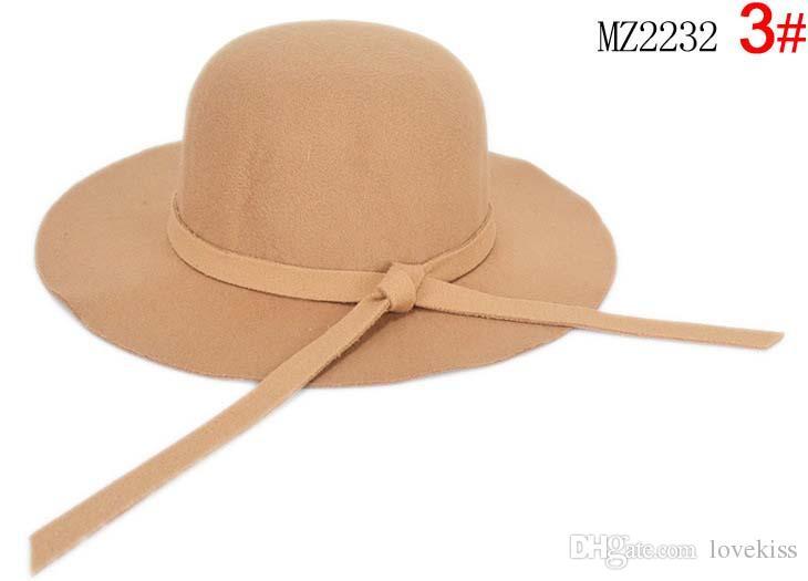 Bucket Hat Baby Hat Children Caps Kids Hats Girls Caps 2015 Autumn Winter Sun Hat Kids Cap Girls Hats Wool Cap Fashion Wide Brim Hats C15443