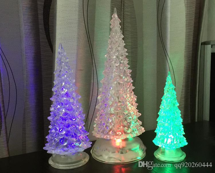 christmas decorations of led christmas tree lights acrylic crystal tree led colorful color small night lights - Small Lighted Christmas Trees