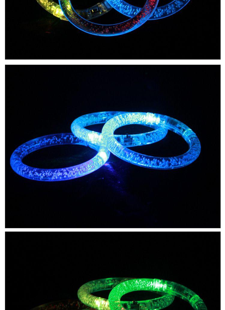 PrettyBaby LED Buntes Blinkendes Armband Licht Acryl Blinkende Armbänder Hand Ring Armreif Atemberaubende Tanzparty Weihnachtsgeschenke