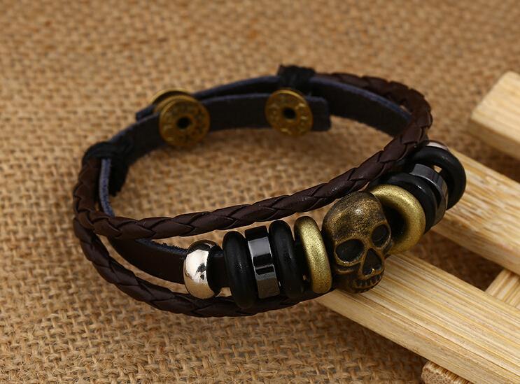 مزيج بيع تحديد أساور ريترو نمط مختلف إنفينيتي للرجال الأزياء إنفينيتي الأساور الجلدية أساور مجوهرات
