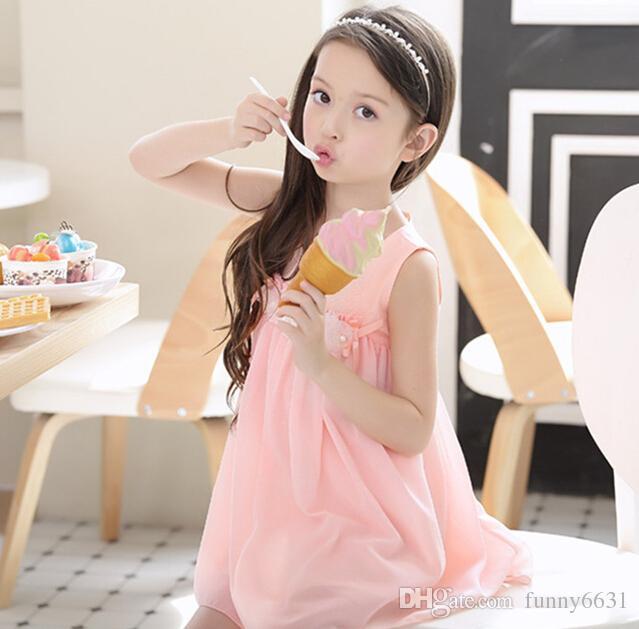 YAZ Kore Kızların elbiseler prenses elbise bebek tutu çocuk giyim 3-7 T IÇIN 3-10STYLE KARıŞıK TARZı SUIT ücretsiz kargo