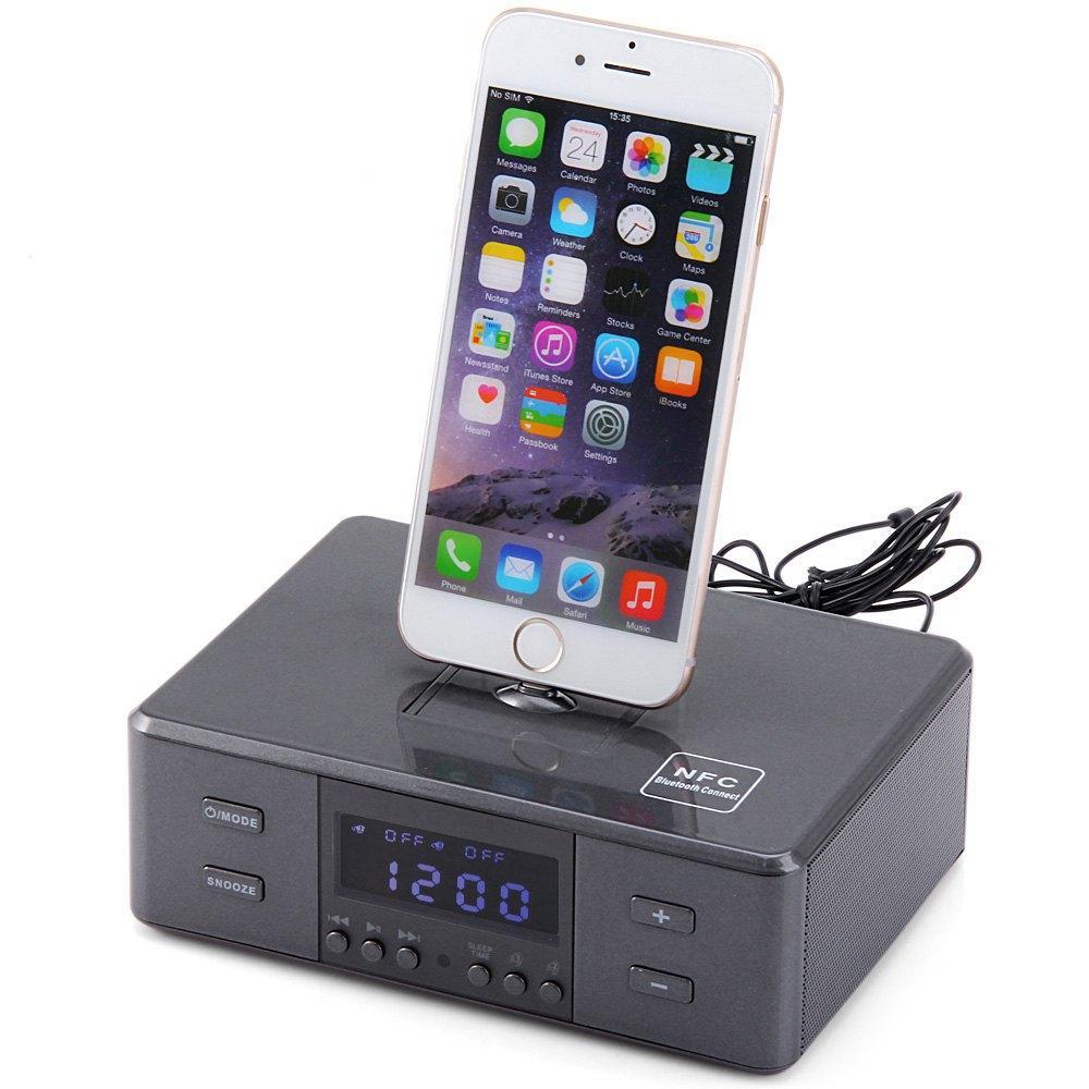 D9 Wireless Bluetooth V3.0 Speaker, Radio Alarm Clock Speaker,8 Pin ...
