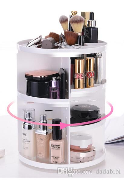 NEW ARRIVAL COSMETIC ORGANIZER 360° Rotary receiving frame high-capacity let table cleaner