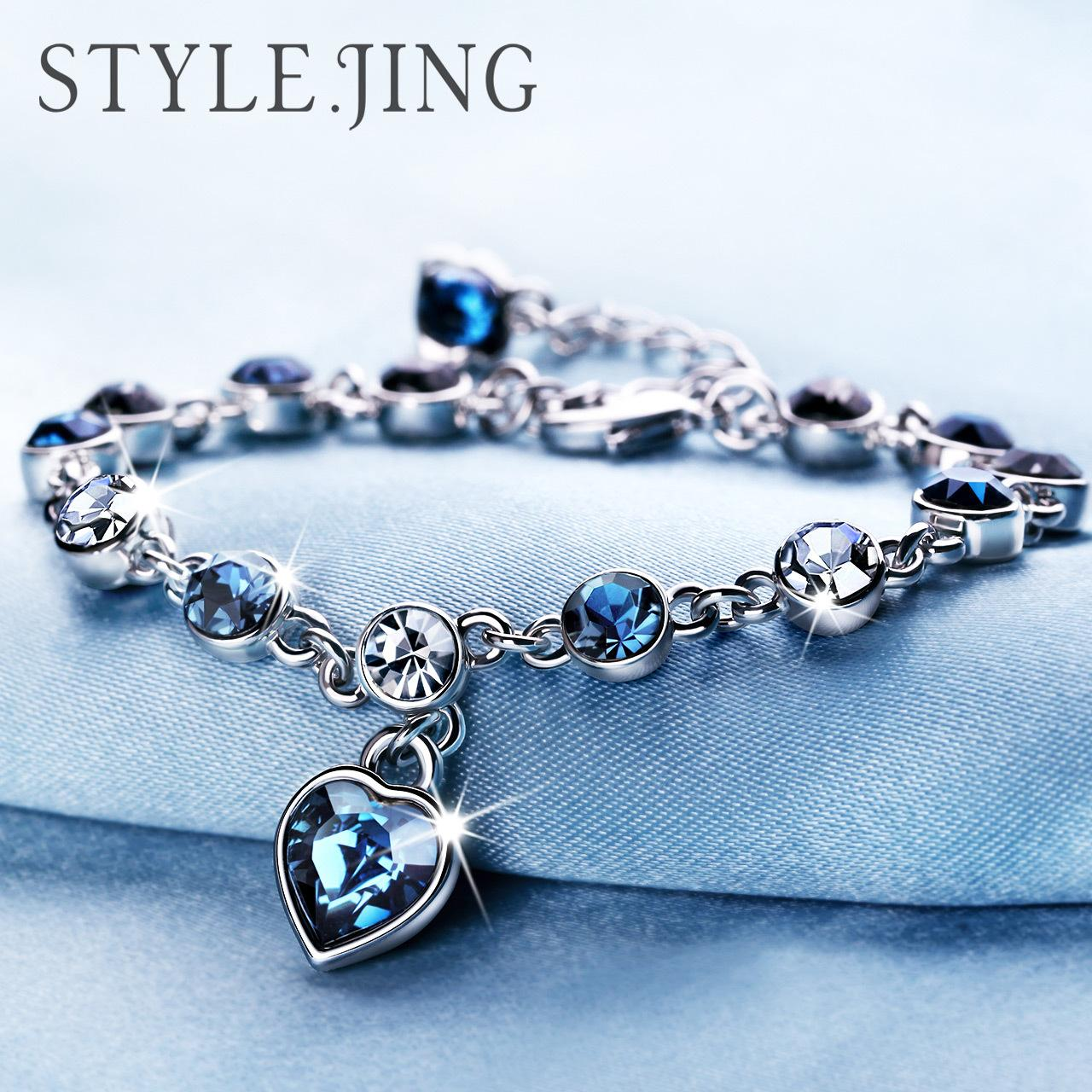 2019 Austrian Crystal Full Diamond Bracelet Silver Plated Birthstone Crystal  Jewelry Optional Multicolor Crystal Bracelet Maxi Statemet From Elena12 92a9fabaac