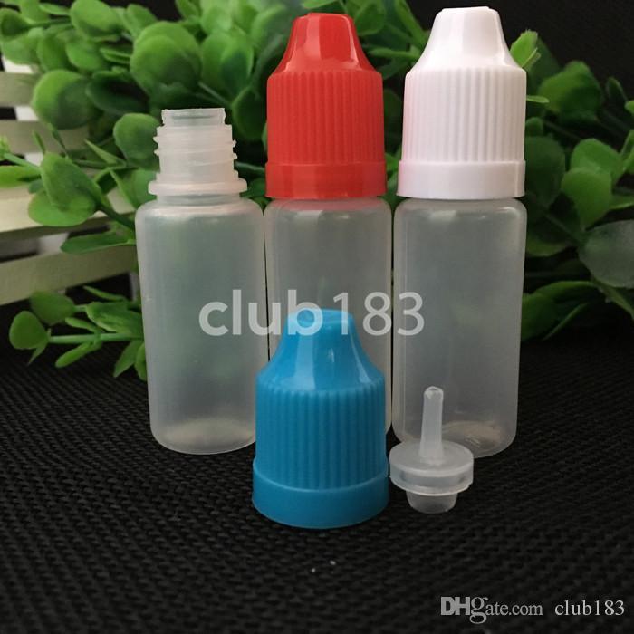 2018 Hochwertige E Flüssige Flaschen PE E Saftflasche 10ml leeren E-Liquid Flasche schnelles Verschiffen
