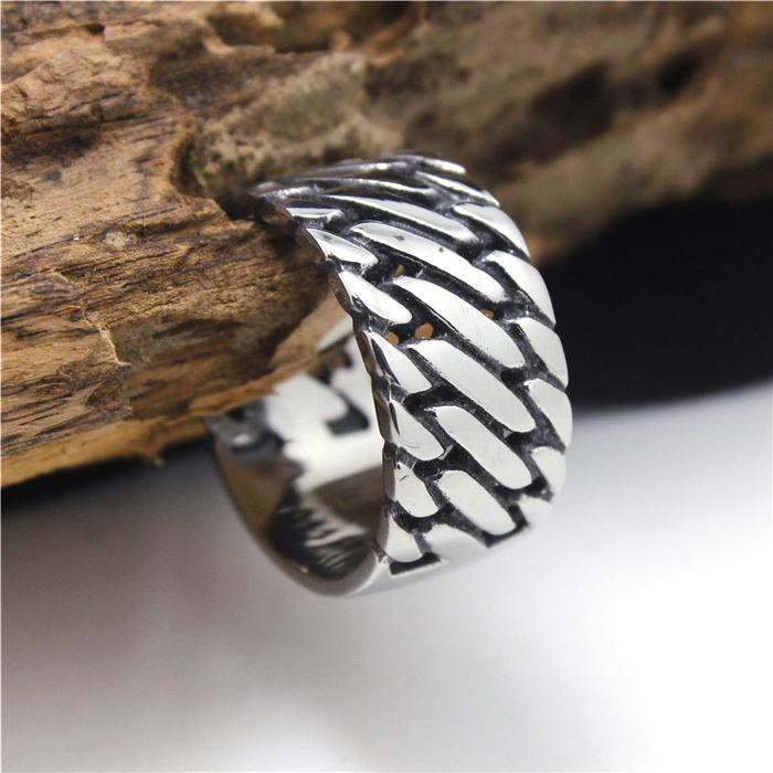 316L Stainless Steel Cool Silver Huge&Heavy Perfect Mens Ring Biker Style