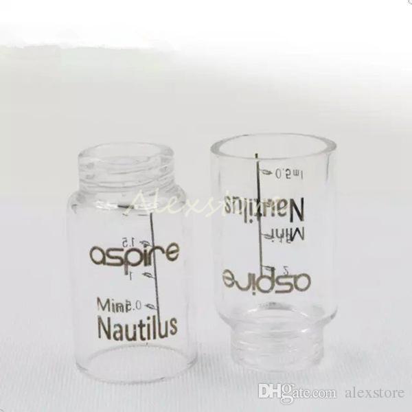 Sostituzione del tubo in vetro Pyrex Cappuccio trasparente campana sostituibile vaporizzatore Glassomizer Aspire Nautilus Bomboletta spray 5ml e serbatoio Nautilus Mini 2ml