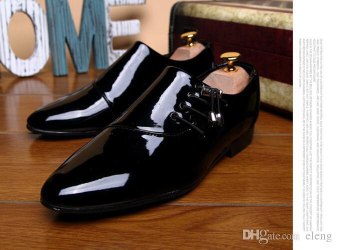 2017 NEW Arrival Groom shoes Men's Fashion Shine leather shoes wedding dress shoes for men ENPX110