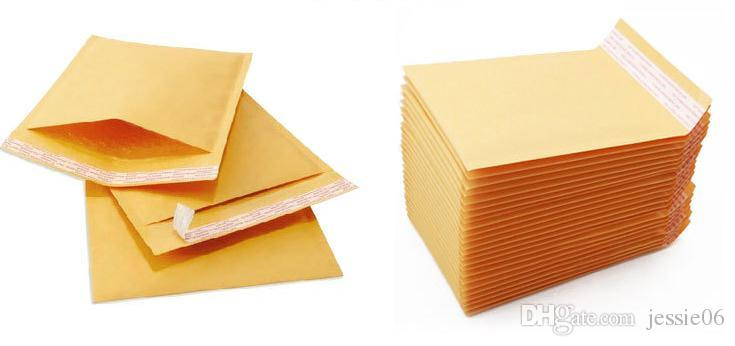 kraft paper Envelopes Air Mail Air Bags Packing Bubble Cushioning Padded Envelopes Wrap Golden 160mm*140mm 6.29*5.5inch drop shipping