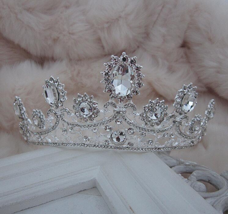 NOVITÀ Luxury Royal princess Red diamond strass Wedding Crowns Velo da sposa Tiara Crown Fascia le prestazioni delle corone NM77