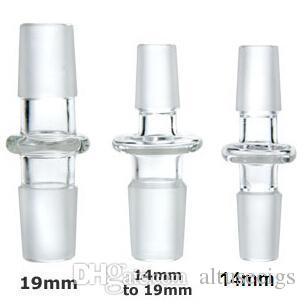 14 ملليمتر 18 ملليمتر 10 أنماط زجاج قبة محول ذكر لذكر الزجاج محول محول ذكر إلى أنثى الزجاج بونغ محول لل تزوير بونغ