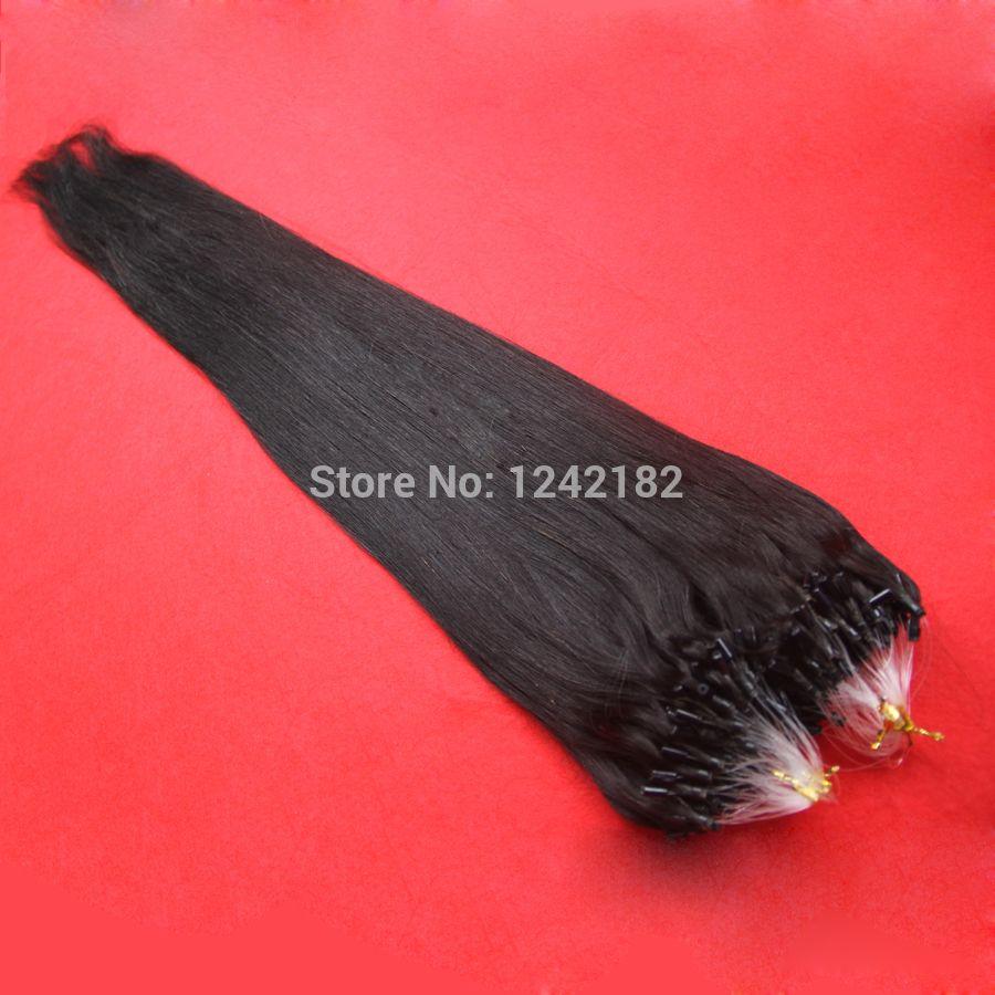 Sıcak Satış Mikro Döngü Halka Saç Uzatma Hint Saç Mikro Halka Saç Uzantıları 1.0 gram Hint Remy Saç 10-26 Inç