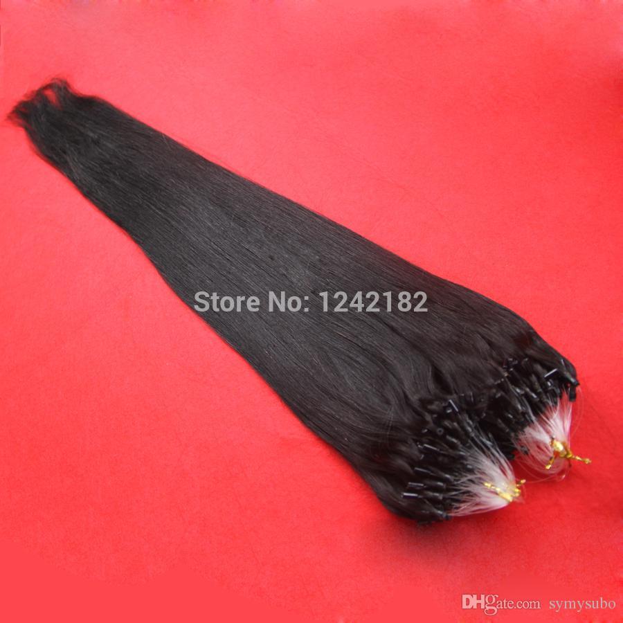Venda quente Anel de Micro Anel de Extensão Do Cabelo Indiano Cabelo Micro Extensões de Cabelo Anel de 1.0 grama Cabelo Remy Indiano 10-26 Polegada