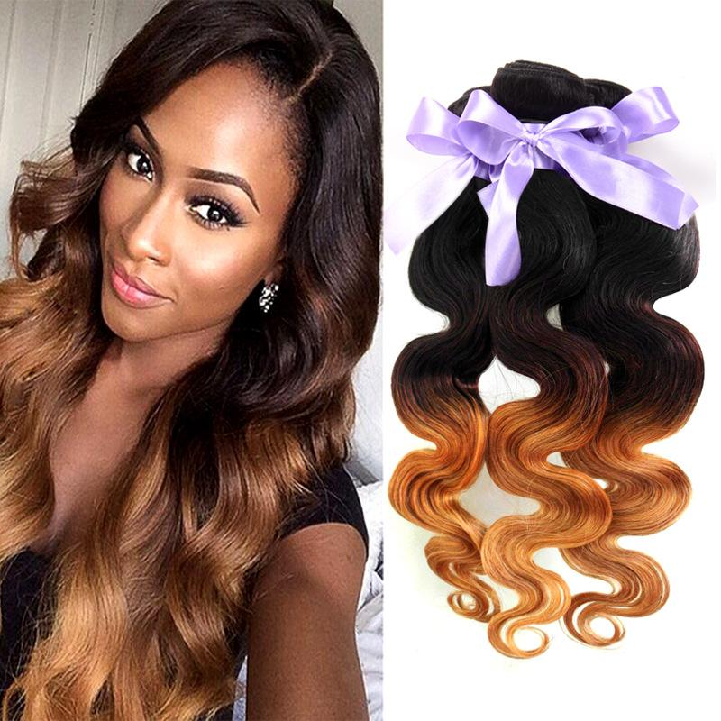 1b427 Ombre Hair Body Wave 12 24inch Ombre Human Hair 4 Bundles