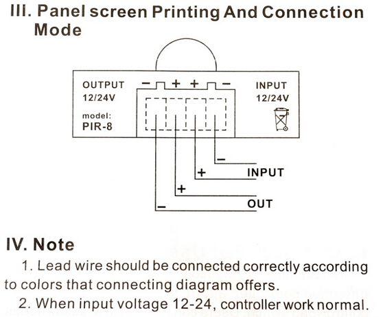 12V 24V Sensor Switch LED Dimmer Motion Timer for LED Strip Light Tape Infrared Detection 6A 12 Volt 24 Volt Induction Range 8m - Express