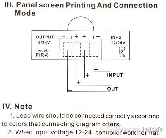 Interruttore a sensore automatico a infrarossi corpo 12 V 24 V 6 A nastro LED SMD 5050 3528 5630 PIR Motion Detection 12 Volt 24 Volt CE