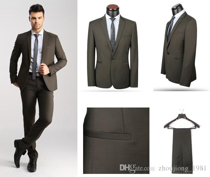 Discount Wholesale New Style 2016 Men Suits For Wedding Tuxedo ...