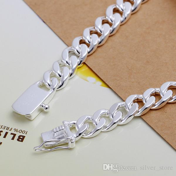 حار بيع هدية 925 8M سوار من الجلد - رجال DFMCH182، العلامة التجارية الجديدة 925 الفضة الاسترليني سلسلة ربط مطلي الأحجار الكريمة أساور عالية الجودة