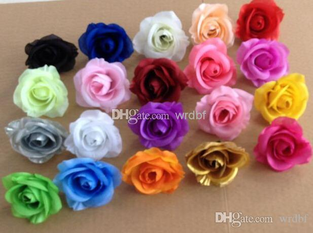 EN IYI SATıCı ÇIÇEK BAŞKANLARı 100 p Yapay Ipek Kamelya Gül Sahte Şakayık Çiçek Kafa Düğün Parti Ev Dekoratif Flowewrs için 7-8 cm