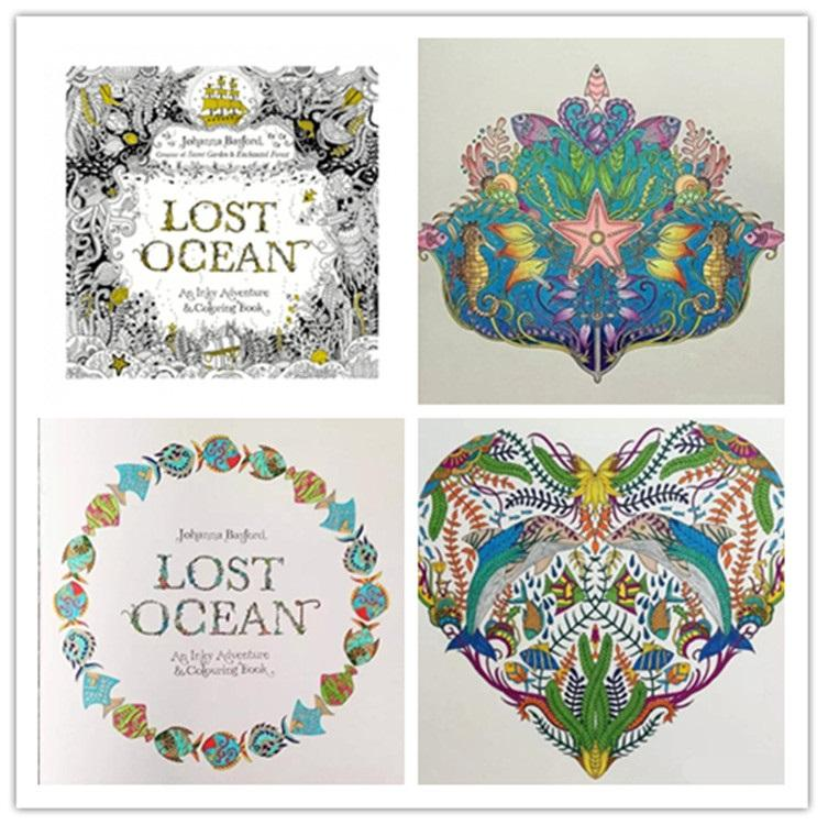 Lost Ocean Coloring Book High Copy Adult Children Relax Relieve Stress Graffiti Painting