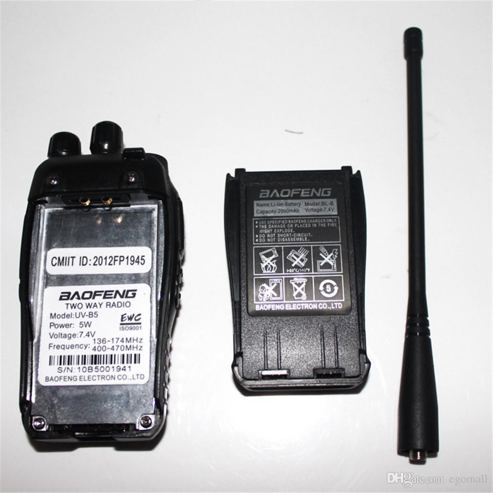 Baofeng UV-B5 5 W 99CH Walkie Talkie UHF VHF Dual Band Telsiz / Frekans / Ekran 2 Iki Yönlü Telsiz ile Şarj / Adaptörü Ücretsiz Kargo