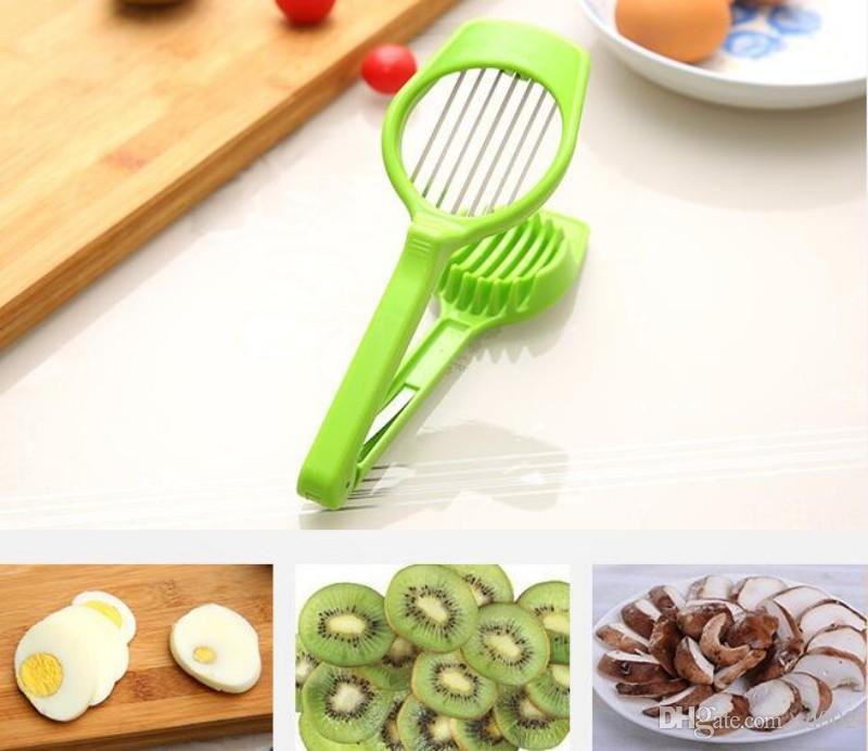 Popular Mushroom Tomato Egg Slicer Multi Function Kitchen Tool Plastic Manual Easy To Use Eggs Cutter Top Quality 5bk B