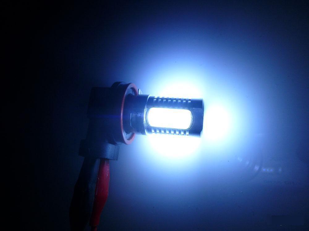 2x 7.5 واط زينون الأبيض 12 فولت h11 h8 السلطة أدى البوليفيين السيارات foglight الضباب الخفيف مصباح المصباح