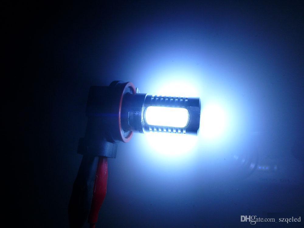 2x 7.5W Xénon Blanc 12V H11 H8 Puissance LED COB Voiture Phare antibrouillard Lampe Ampoule H7 H4 H3 H1 1156 1157 9005 9006 A21car Feu clignotant