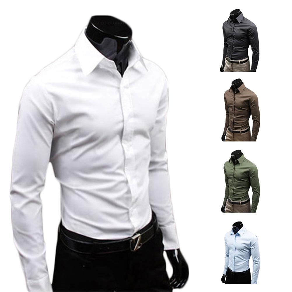 Best S5q Men Luxury Casual Slim Fit Stylish Long Sleeve Dress ...
