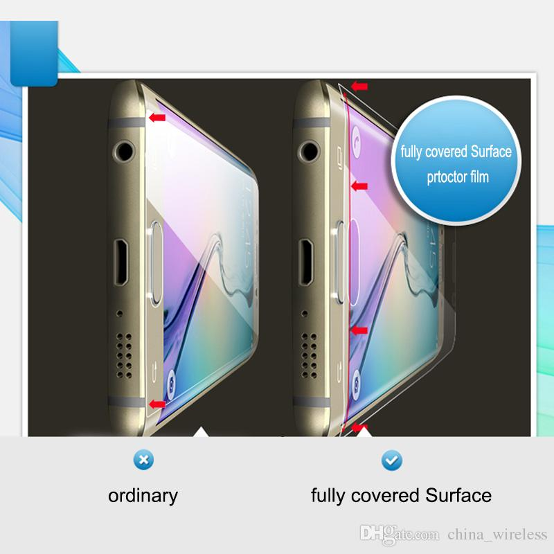 for Note 9 S9 S9+ S9 plus Fully Covered 3D TPU Screen Protectors For S8 plus S8+ Galaxy S6 S7 edge Front Back