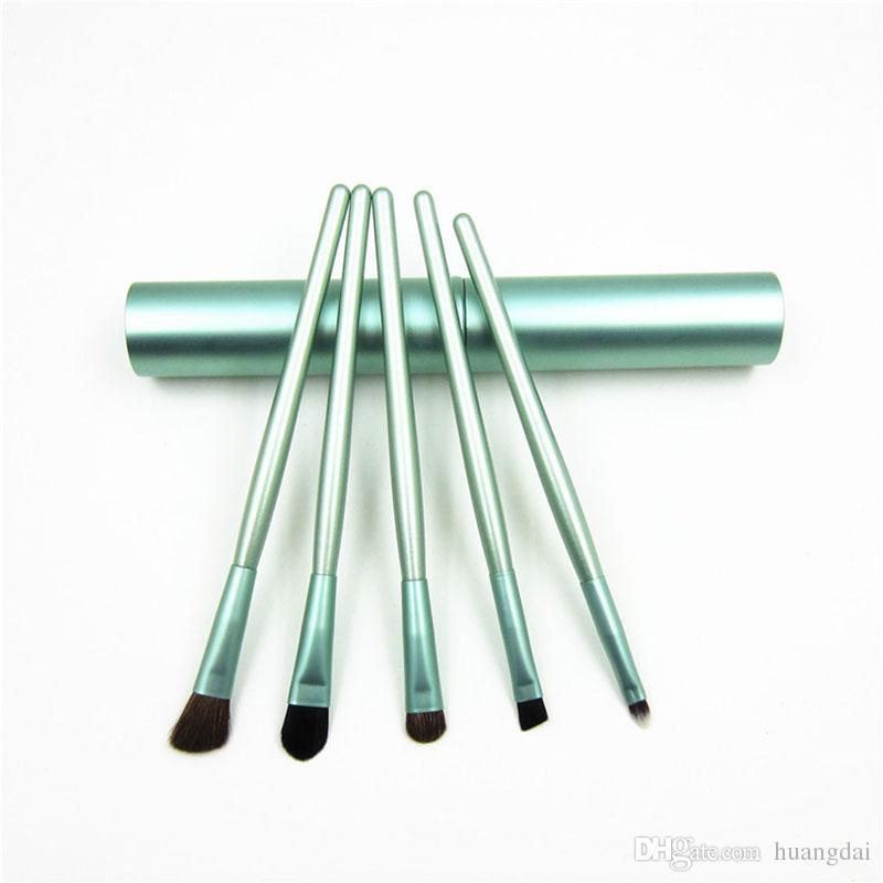 5 unids / set Profesional Pony Hair Eyeshadow Brushes Set Pinceles de Maquillaje Para Maquillaje de Ojos Kit de Herramientas Con Tubo Redondo