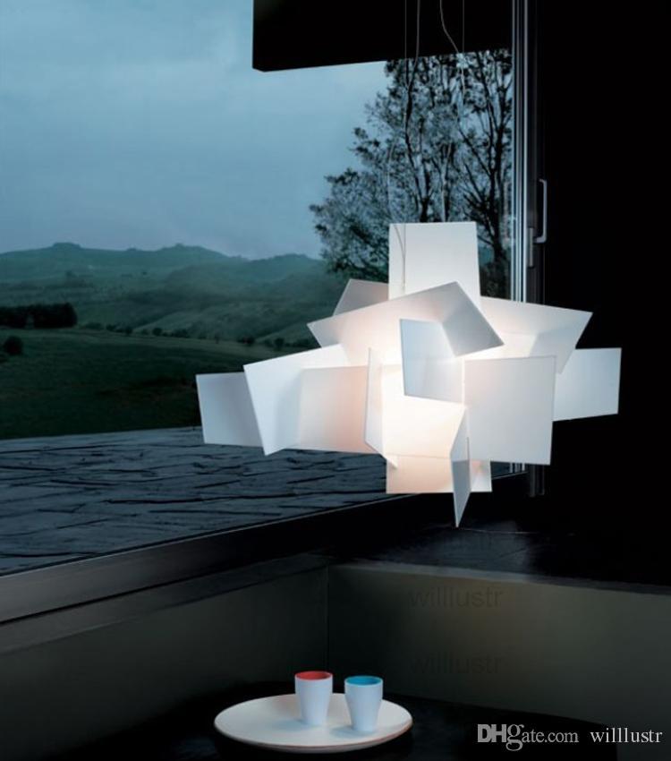 حمراء الحديثة مصباح قلادة تصميم بيغ بانغ تعليق مصباح قلادة ضوء السقف ثريات الإضاءة حانة الفندق الأبيض الساخن بيع الشحن المجاني