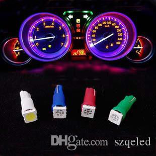White red blue green yellow T5 5050 1LED Bulbs with Wedge Base for Auto Car DashboardsGauge bulbs