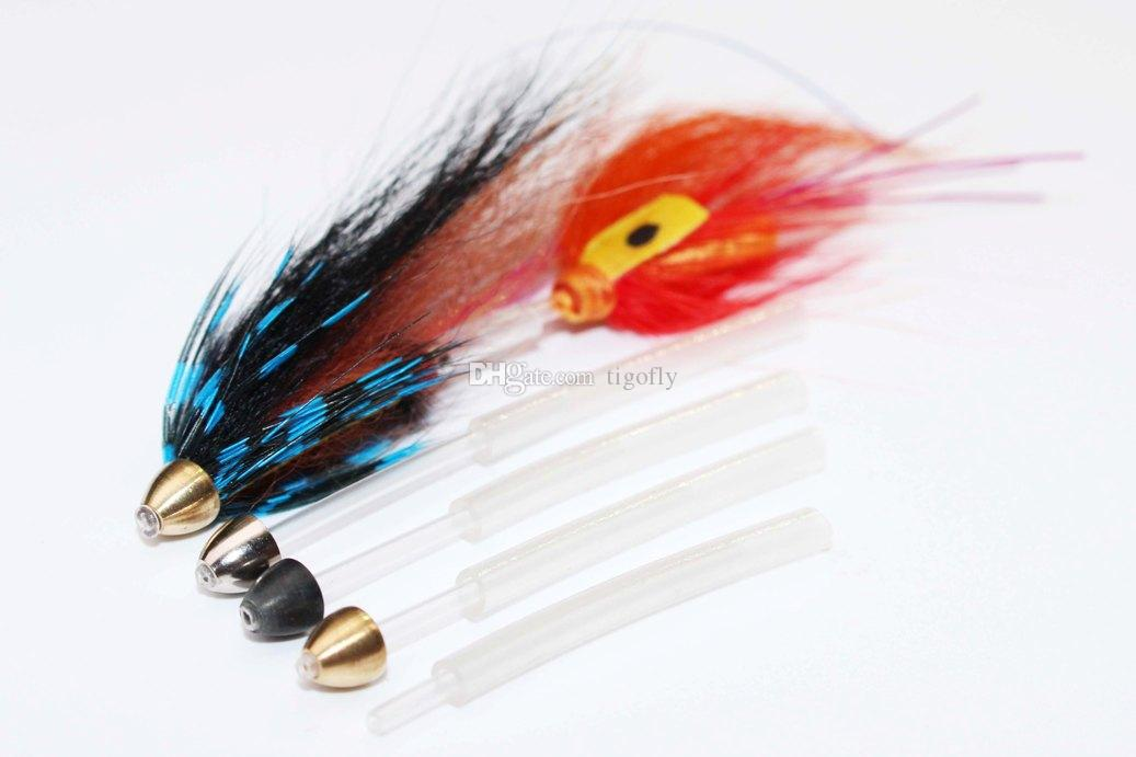 Tigofly Copper Brass Cone Heads For Tying Tube Flies Streamers Fly Tying Beads Materials 5mmX4.1mmX1.7mm